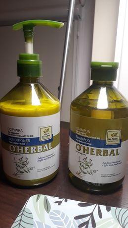O'herbal zestaw do włosów przetłuszczających się