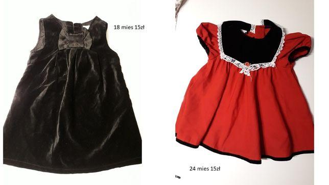 ubrańka dziewczęce 12-24 miesiące