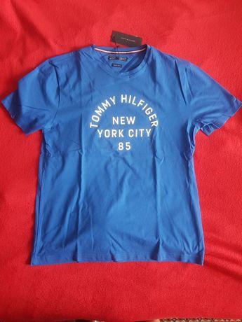 Nowa koszulka Tommy Hilfiger rozmiar XL niebieska T-Shirt