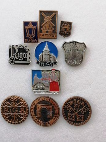Старые значки СССР Рига Тяжелый металл