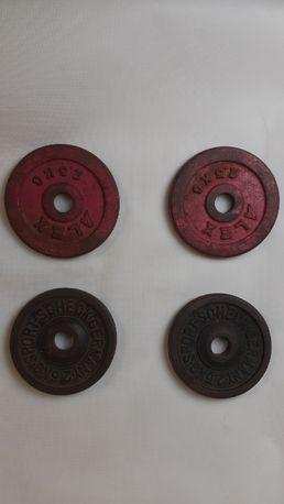 Obciążenie żeliwne 4x 2,5 kg