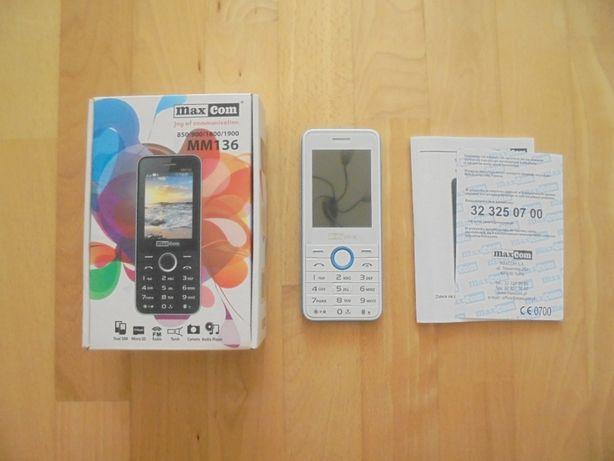 Maxcom MM 136 Dual SIM Telefon GSM Biało-Niebieski
