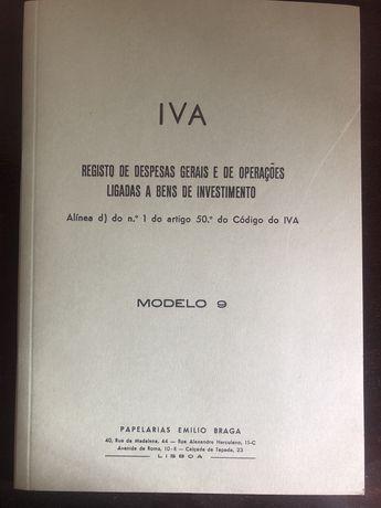 Registo de despesas gerais IVA vintage NOVO