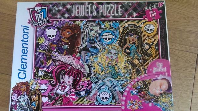 PUZZLE Monster High Jewels 200, Trefl, prezent