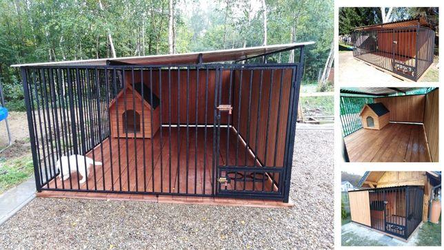 Kojec dla psa 4x3m, klatka, boks, zagroda, wiaty