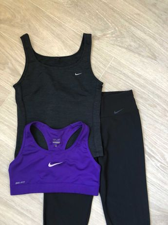 Спортивный набор костюм Nike топ и майка Лосины М Adidas размер XS-S