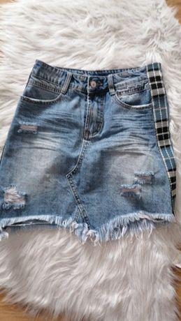 Jeansowa spódnica r.s