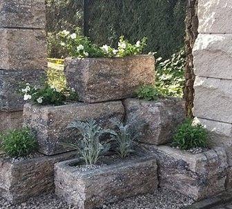 Ogrodzenie systemowe z bloczków, pustaki ogrodzeniowe-pustak łupany