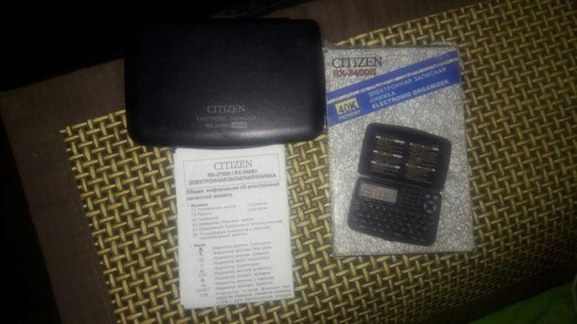Органайзер, записная книжка Citizen RX -3400 II, новый с документами