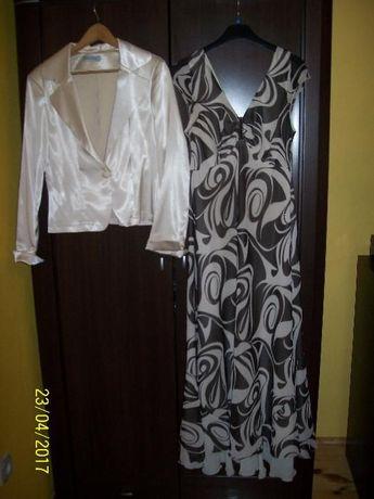Komplet sukienka suknia i NOWA marynarka OKAZJA