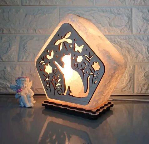 Соляна лампа сольовий світильник  корисний для здоров'я подарунок
