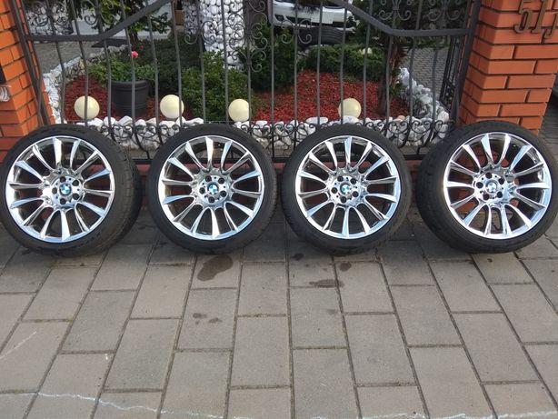 Oryginalne 152 felgi 20 cali chrom BMW 5x120 nowe opony alufelgi