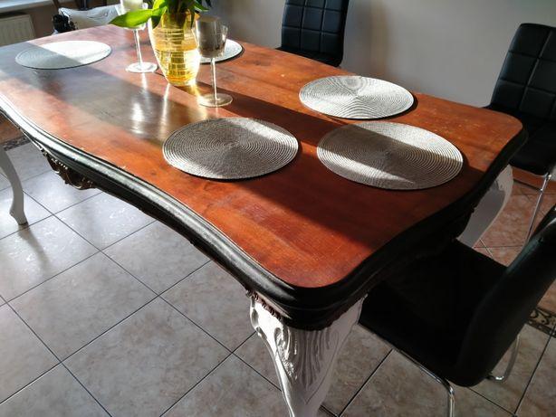 Piękny drewniany stół, oryginalnie rzeźbiony, teraz tylko 499zł!