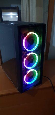 Torre NOVA gaming ARGB Ryzen 5-3400 hdmi win10 16gb ssd com garantia