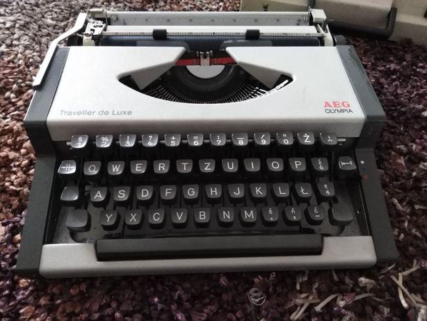 Maszyna do pisania AEG Olympia wraz z obudową