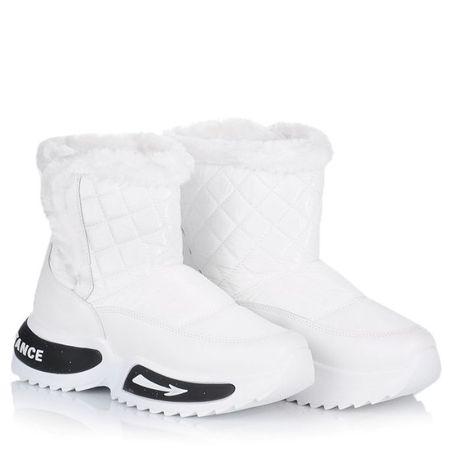 Белые женские дутики ботинки зима зимняя обувь 36 37 38 39 40 41