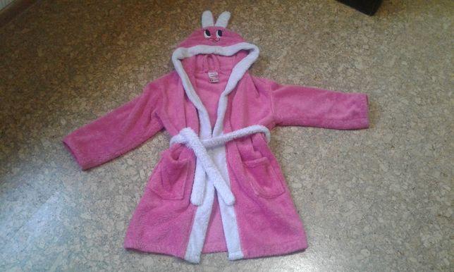 Теплый халатик для девочки 7-8 лет
