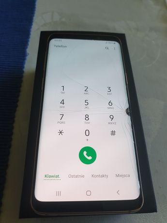 Samsung Galaxy S9 , SM G960F kolor złoty uszkodzony wyświetlacz !