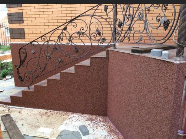 Декоративная мозаичная гранитно-мраморная штукатурка мозайка байрамикс
