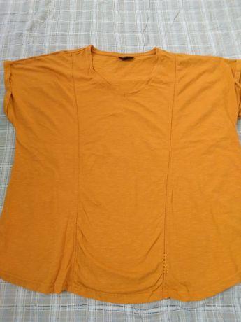 Miodowa musztardowa bluzka 46-48