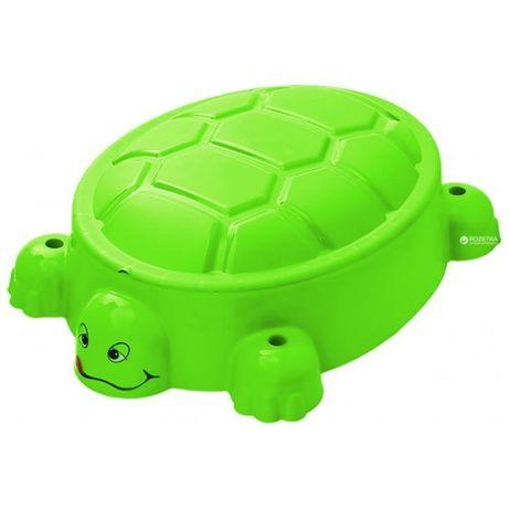 07-518 Песочница-бассейн черепашка с крышкой StarPlay уценка