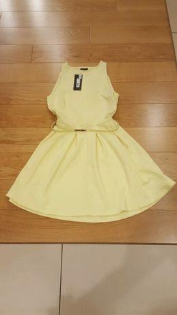 Sukienka cytrynowa żólta mohito