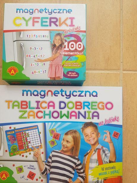 Magnetyczna tablica dobrego zachowania , magnetyczne cyferki