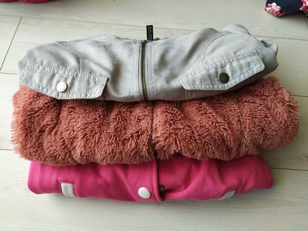Kurtka, bluza, bluza miś -  zestaw 134cm