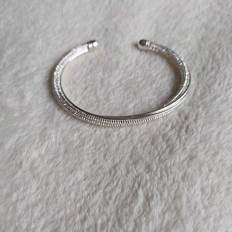 Nowa srebrna bransoletka koło prezent Dzień Kobiet
