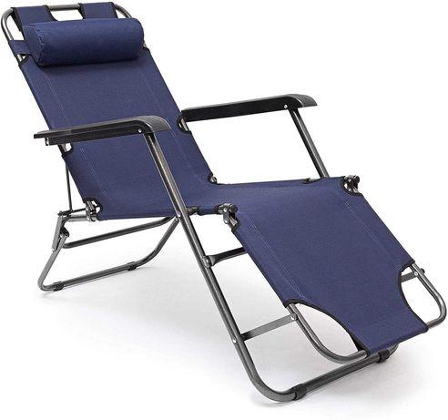 OUTLET - 2w1 leżak krzesło na balkon taras plażę składany wygodny