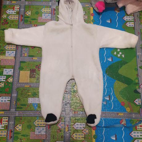 Махровый человечик Пандочка на 3-6 месяцев
