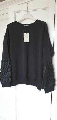 Bluza czarna z listkami firma Mint roz. M / L NOWA