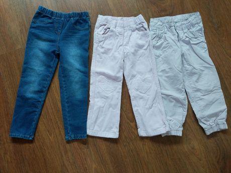 Lote 3 calças outono menina 4-5 anos