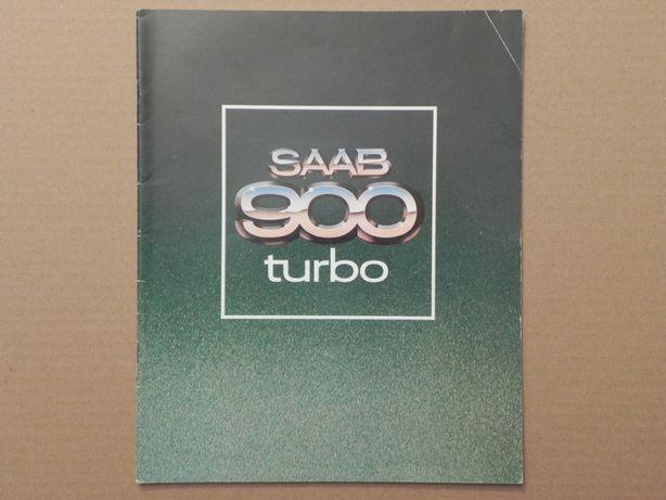 Prospekt - SAAB 900 TURBO - 1978 r