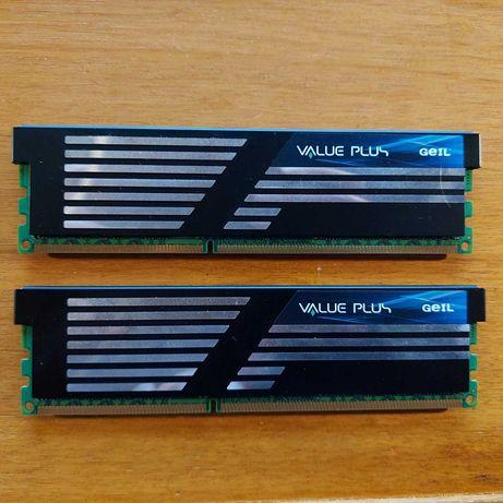 2 * 2Gb memorias DDR3 Geil Value Plus PC3 12800 CL9 (4Gb no total)