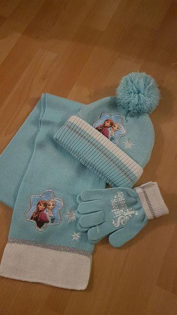 Disney czapka szalik rękawiczki