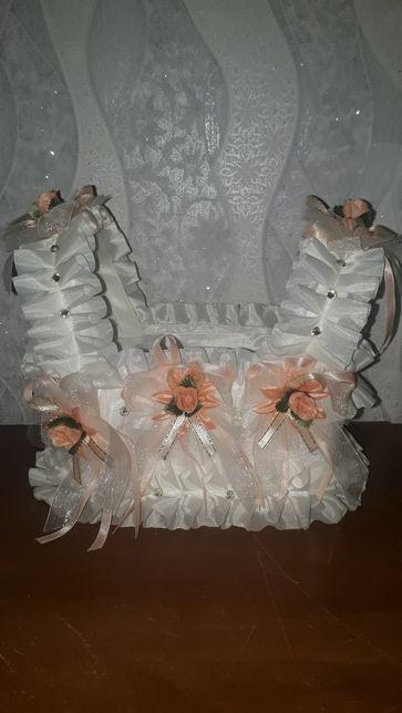 Свадебная корзинка для шампанского или лепестков роз