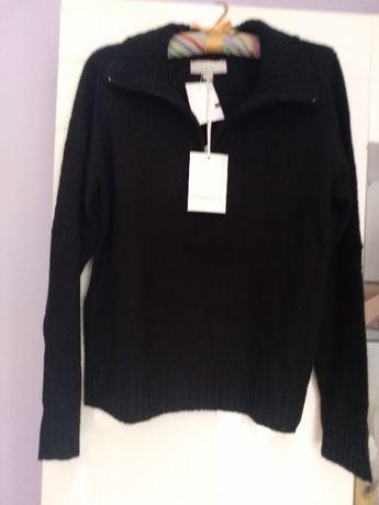 Czarny sweter z zamkiem rozmiar L