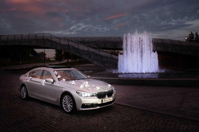 Ślub limuzyna BMW serii 7 long samochód do ślubu z kierowcą