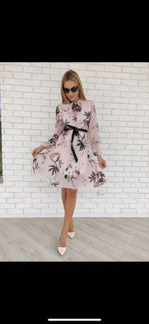 Шифоновое платье, невероятно красивое,  Италия