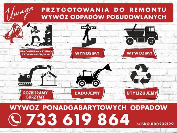 Wywóz gruzu, śmieci, różnego typu rozbiórki, wyburzenia itp.