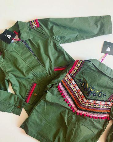 Стильная куртка демисезонная zara next h&m reserved хаки бохо