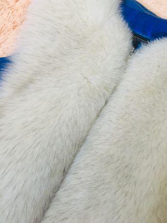 меховая жилетка натуральный мех, натуральная кожа