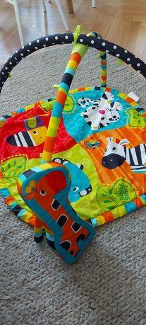 Bright starts Mata edukacyjna do zabawy dla niemowlaka kolorowa safari