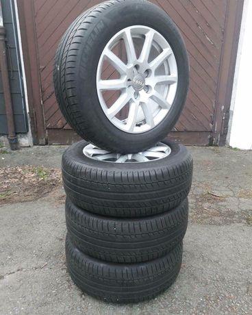 Диски Audi R16 летняя резина 225/55 R16 Michelin