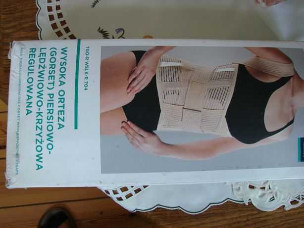 Gorset piersiowo- lędzwiowo- krzyżowy regulowany