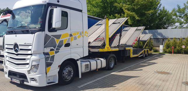 zestaw do przewozu 6 samochodów autotransporter Mercedes Actros