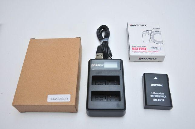 Набор 2в1 En-el14 аккумулятор + зарядное на 2АКБ для Nikon D3... D5...