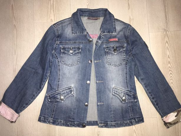 Джинсовая куртка пиджак подростковый размер хс-с