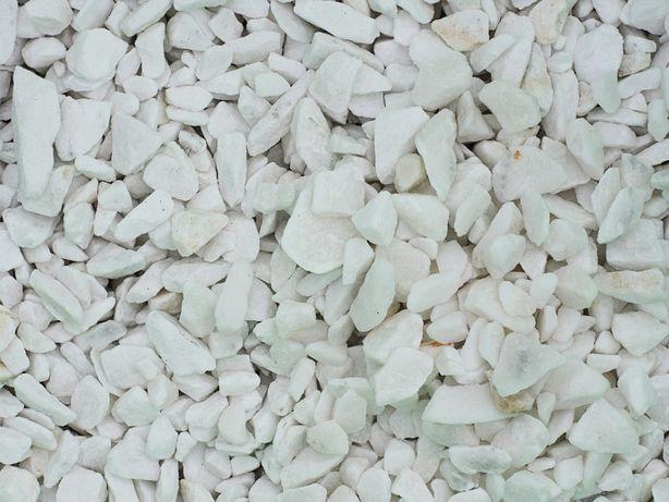 Grys Śnieżny Biały Piękny Kamień Ogrodowy Ozdobny 10-40mm 25kg